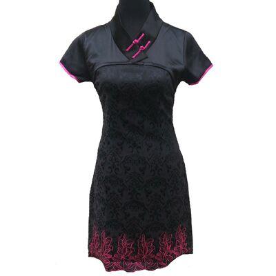 Robe Chinoise Noir Hotesse Manifique