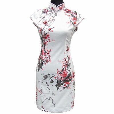 Robe Coton Blanc Fleur