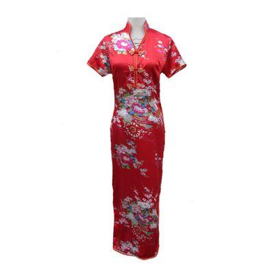 Robe chinoise Longue Fendue
