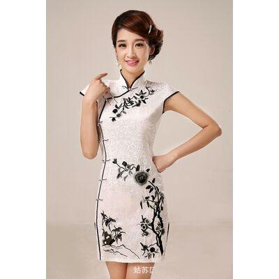 Robe de Soirée Chinoise Courte