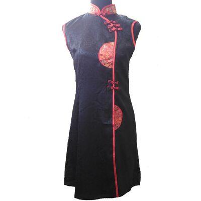 Robe de Soiree Chinoise Motif Fleur