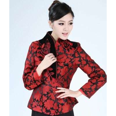 Veste chinoise col mao femme
