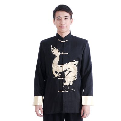 Veste Chinoise Homme Chinoise Dragon Bordee
