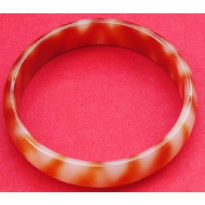 Bracelet en Agate Rouge Nature