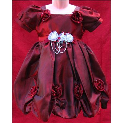 Robe Enfant Rouge Bordeaux