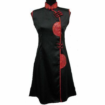 Robe de Soirée en Soie Chinoises Noire