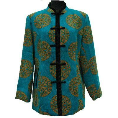 Veste Chinoise Coton Bleu