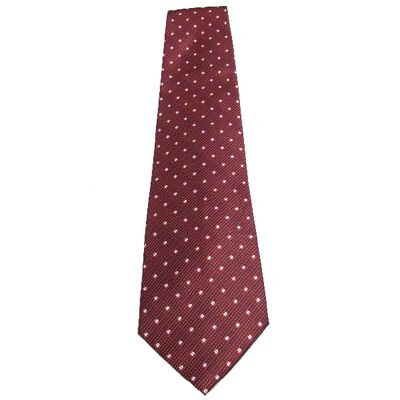 Cravate Rouge Bordeaux Motif
