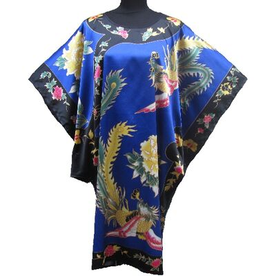 Kimono Robe Bleu Porte Bonheur