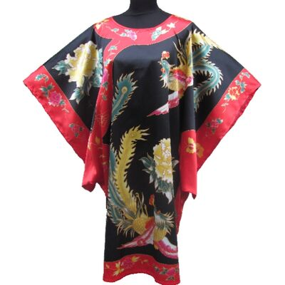 Kimono Robe Court Oiseau Porte Bonheur