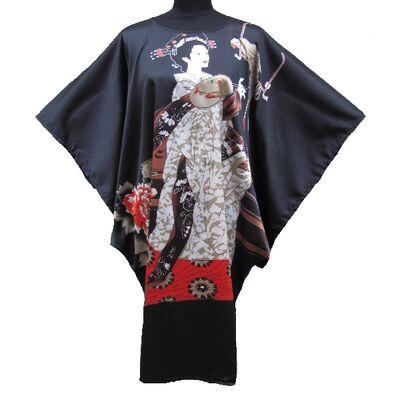 Kimono Robe Grand Taille Motif Femme Japonais