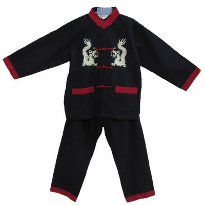 Pyjama Chinois Enfant Lin Motif Dragon