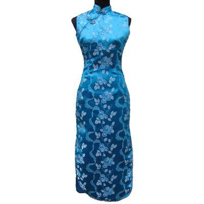 Robe Chinoise Bleue Fendue