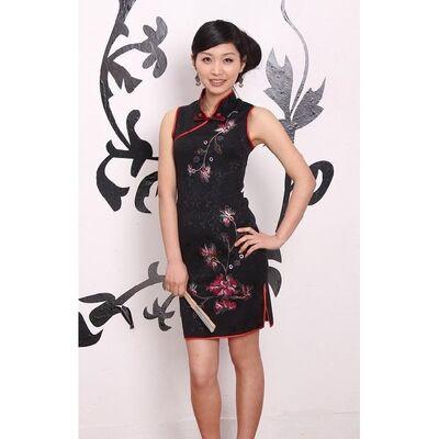 Robe Chinoise Courte Sans Manche Paris Modele