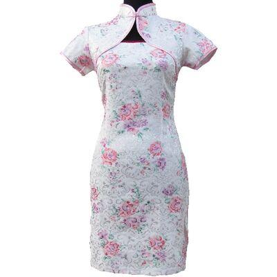 Robe Chinoise Fleur