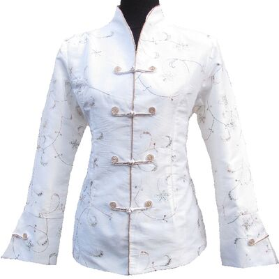 Veste Chinoise Femme Blanche