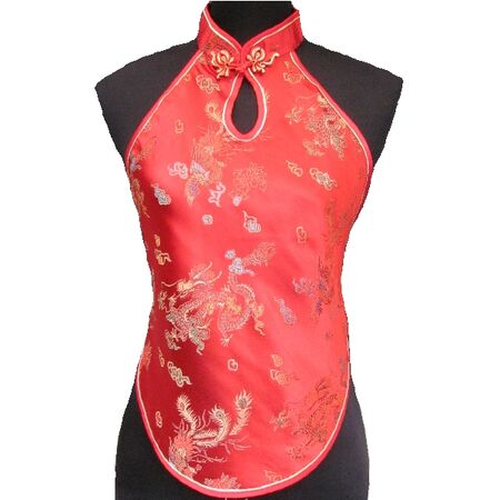 Dos Nu Chinois Rouge Dragon