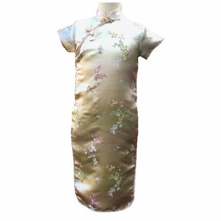 Robe Chinoise Or Dore