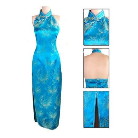 Robe Bleu Dos Nue