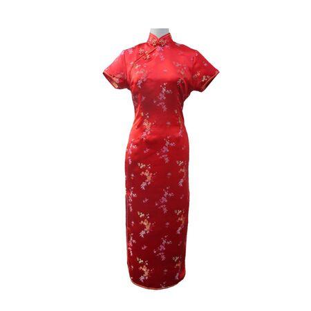 Robe Chinoise  Rouge Longue
