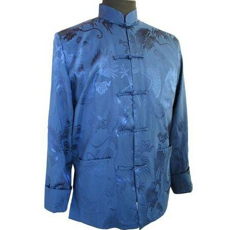 Veste Homme Soie Bleu