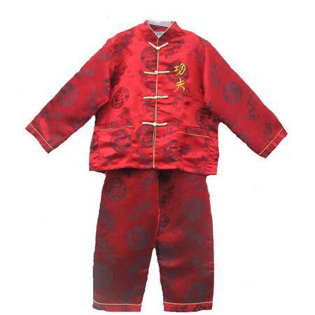 Pyjama Enfant Rouge Bordeaux