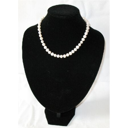 Collier en Perles de Culture Blanche