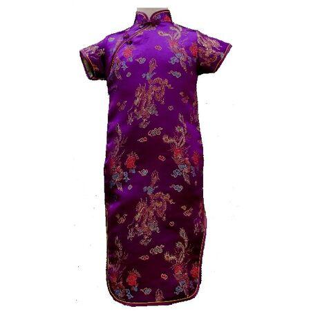 Robe Chinoise Violette