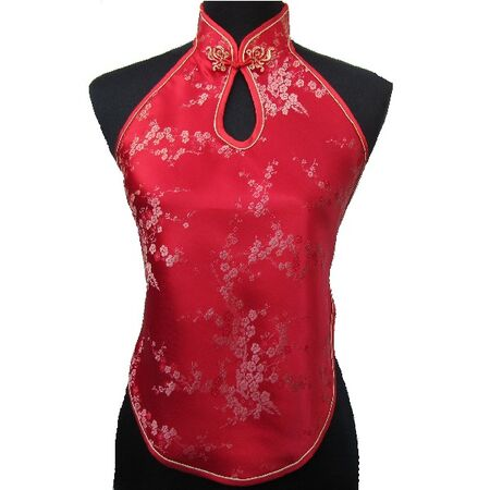 Dos Nu Chinois Fleur Rouge