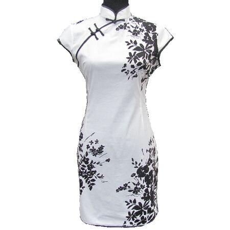 Chinoise Courte Blanc Noire
