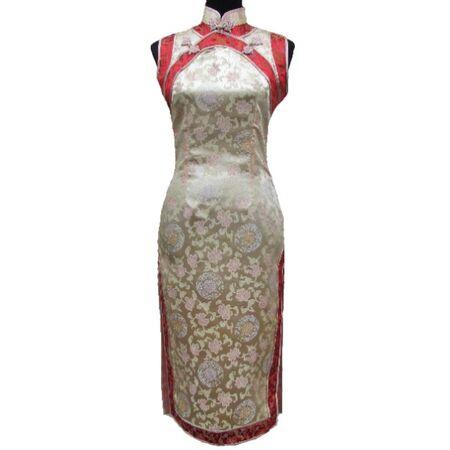 Robe Chinoise Soie Dore