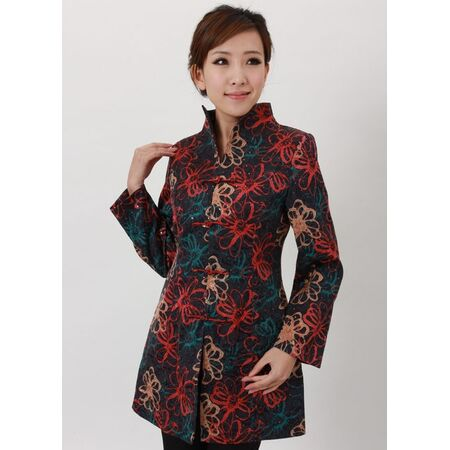 Veste Chinoise Tunique Longue Coton